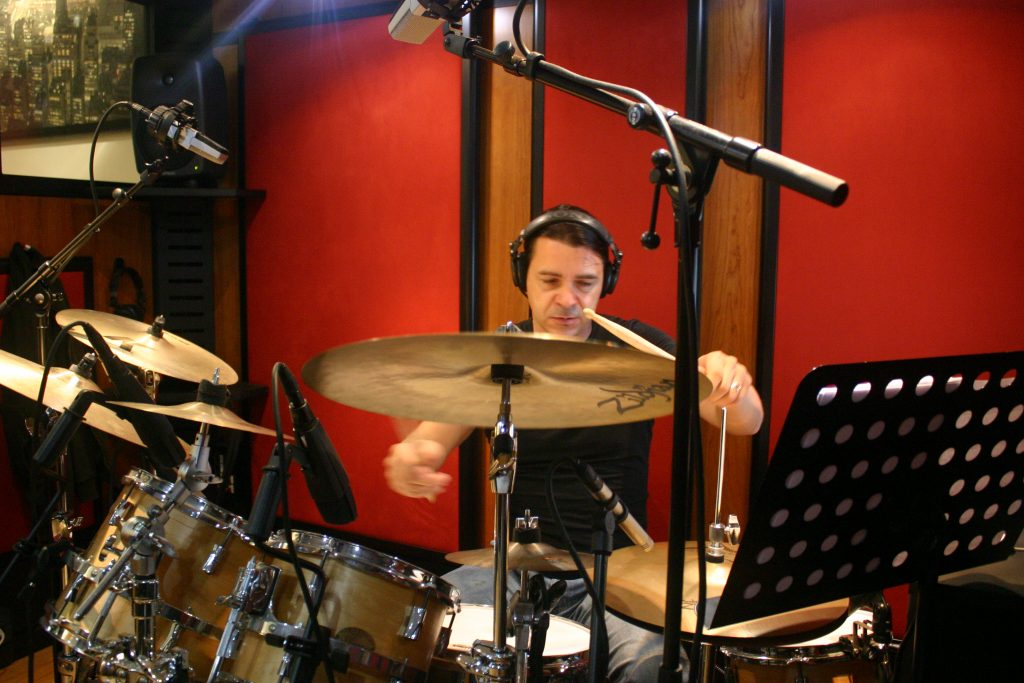 Freewill drums recording session